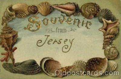 bor001062 - Jersey, USA Shells, Shell Border, Postcard Post Card