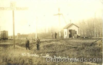 bot001007 - Canada/USA border Border Town Towns Postcard Post Card