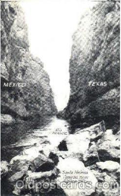 bot001016 - Rio Grande between Mexico and Texas Border Town Towns Postcard Post Card