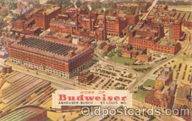 bre001007 - Budweiser, Anheuser Busch, St. Louis, Mo. USA Brewery Postcard Post Card