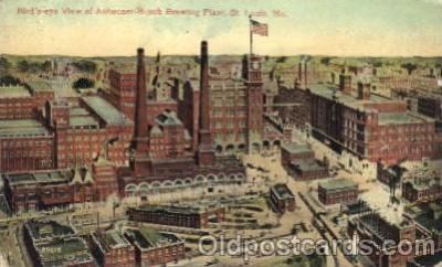 bre001030 - Anheuser-Busch Plant, St.Louis Brewery, Missouri, Mo, USA Breweries Postcard Post Card