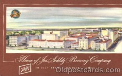 bre001039 - Schlitz Brewery, Milwaukee, Wisconsin, Wi, USA  Breweries Postcard Post Card