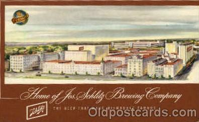 bre001055 - Jos. Schlitz Brewing Company Milwaukee, Wisconsin Beer Brewery, Breweries, Post Card Post Card