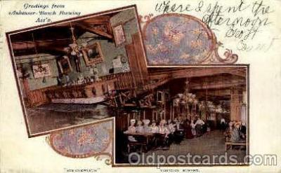 bre001062 - Anheuser-Busch Inc. Sternewirth & Visitors Buffet, St. Louis, Mo. Beer Brewery, Breweries, Postcard Post Card