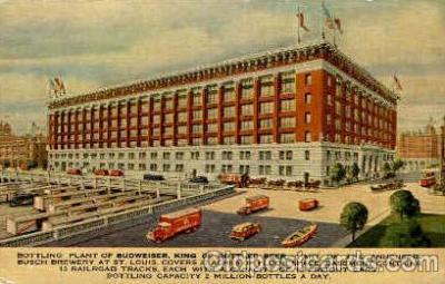 bre001074 - Budweiser Bottling Plant Beer Brewery, Breweries, Post Card Post Card