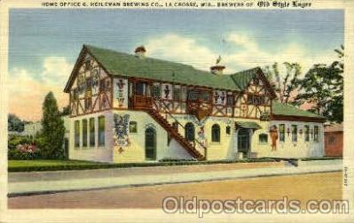 bre001077 - Heileman Brewing Co. Home Office, La Crosse, Wisconsin Beer Brewery, Breweries, Post Card Post Card