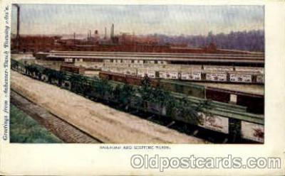 bre001082 - Anheuser-Busch Inc. Railroad & Shipping Yards Beer Brewery, Breweries, Post Card Post Card