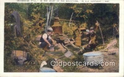 bre001195 - Moonshine Still, Heart of the Mountains Old Kentucky, USA Postcard Post Cards Old Vintage Antique