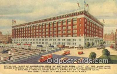 bre001206 - Bottling Plant of Budweiser St. Louis, MO, USA Postcard Post Cards Old Vintage Antique