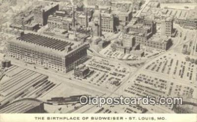 bre001209 - Birthplace of Budweiser St. Louis, MO, USA Postcard Post Cards Old Vintage Antique