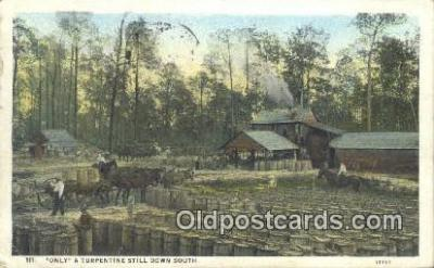 bre001222 - Olny a Turpentine Still Down South  Postcard Post Cards Old Vintage Antique