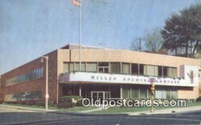 bre001256 - Miller Brewing Co  Postcard Post Cards Old Vintage Antique
