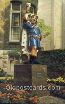 bre001274 - King Gambrinus, Pabst Home Brewery Milwaukee, Wis, USA Postcard Post Cards Old Vintage Antique