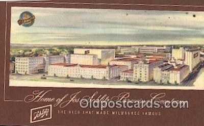 bre001291 - Jos Schlitz Brewing Company Milwaukee, Wis, USA Postcard Post Cards Old Vintage Antique