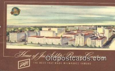 bre001294 - Jos Schlitz Brewing Company Milwaukee, Wis, USA Postcard Post Cards Old Vintage Antique
