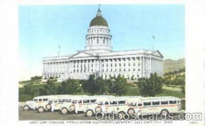 bus010002 - Gray Line Buses, Salt Lake City, Utah, UT, USA Bus Postcard Post Card
