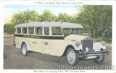 bus010005 - The Newhouse Hotel, Gray Line Buses, Salt Lake City, Utah, UT, USA Bus Postcard Post Card