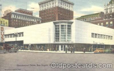 bus010007 - Greyhound Union Bus Depot 18th and Farnam Streets,  Omaha, Nebraska, USA  Postcard Post Card
