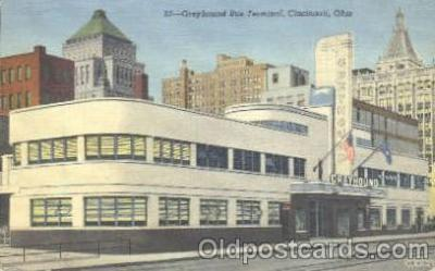 bus010008 - Greyhound Union Bus Depot, Cincinnati, Ohio, USA Postcard Post Card