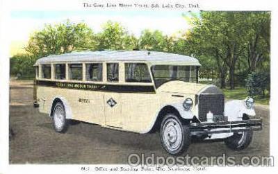 bus010013 - Salt Lake City Utah, USA, The Gray line Motor Tours, Bus Buses Postcard Post Card