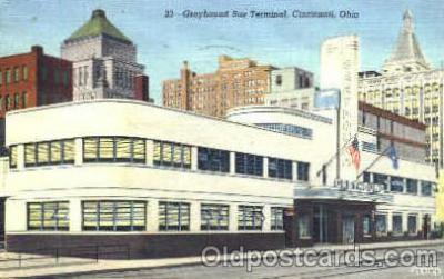 bus010018 - Grayhound Bus Depot, Cincinnati, Ohio USA, Bus Buses Postcard Post Card