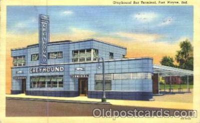 bus010020 - Fort Wayne, Indiana, USA Greyhound Bus Postcard Post Card