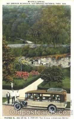 bus010031 - Maurice Spring, Hot Spring National Park, Arkansas, Ar, USA Hot Springs National Park Bus, Buses Postcard Post Card