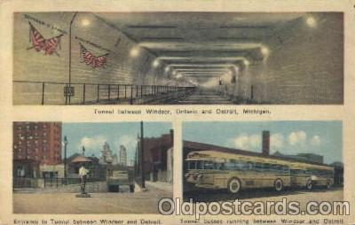 bus010037 - Windsor and Detroit Bus, Buses Postcard Post Card