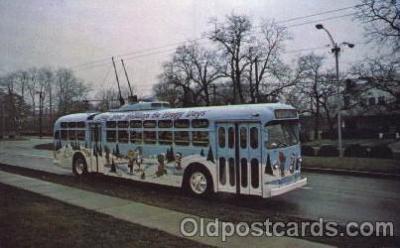 bus010039 - Dayton, Ohio, Oh, USA Trolley Bus Bus, Buses Postcard Post Card