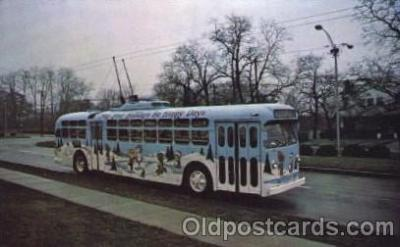 bus010042 - Dayton, Ohio, Oh, USA Trolley Bus, Dayton, Ohio Bus, Buses Postcard Post Card