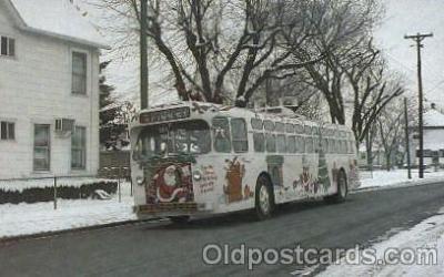 bus010063 - Dayton, Ohio, Oh, USA Christmas bus Bus, Buses Postcard Post Card
