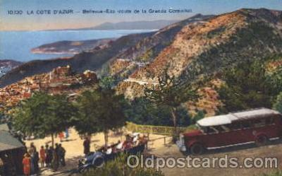 bus010074 - La Cote D'Azur, Bus, Buses Postcard Post Card