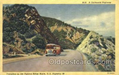bus010091 - Traveling on the famous route 99, CA USA Bus Buses, Old Vintage Antique Post Card Postcard