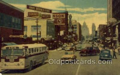 bus010093 - Ouellette Avenue , Windsor, Canada Bus Buses, Old Vintage Antique Post Card Postcard