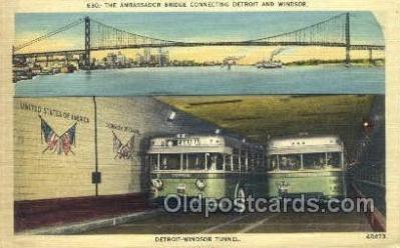 bus010097 - Detroit, MI USA Bus Buses, Old Vintage Antique Post Card Postcard