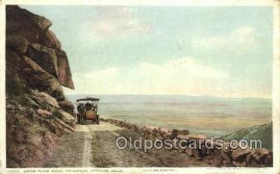 bus010109 - Snow Plow Rock, Colorado Springs, CO USA Bus Buses, Old Vintage Antique Post Card Postcard