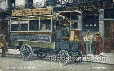 bus010115 - Motor Bus, London Bus Buses, Old Vintage Antique Post Card Postcard