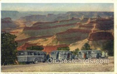 bus010123 - On Hermit rim drive, AZ USA Bus Buses, Old Vintage Antique Post Card Postcard