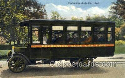 bus010125 - Rochester Auto Car Line Bus Buses, Old Vintage Antique Post Card Postcard