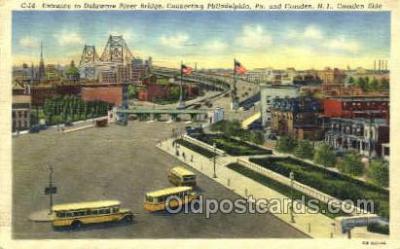 bus010134 - Camden, NJ USA Bus Buses, Old Vintage Antique Post Card Postcard