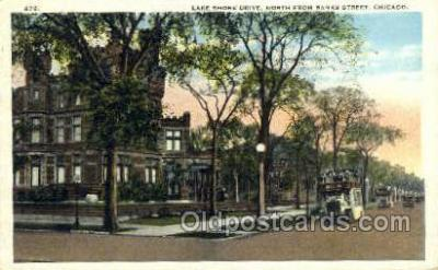 bus010135 - Lake Shore Drive, Chicago, IL USA Bus Buses, Old Vintage Antique Post Card Postcard