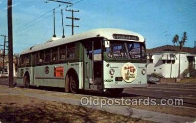 bus010151 - Los Angeles, CA USA Bus Buses, Old Vintage Antique Post Card Postcard