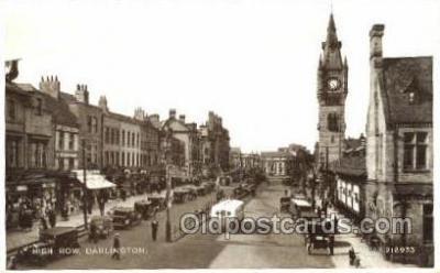 bus010152 - High Row, Darlington Bus Buses, Old Vintage Antique Post Card Postcard