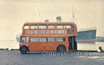 bus010172 - Double Decker Bus, London Bus Buses, Old Vintage Antique Post Card Postcard