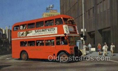 bus010182 - Double Deck Bus, Long Beach, CA USA Bus Buses, Old Vintage Antique Post Card Postcard