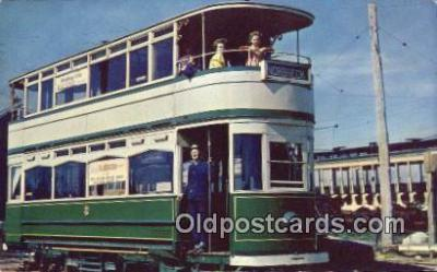 bus010196 - Double Decker Street Car Blackpool England Postcard Post Card, Carte Postale, Cartolina Postale, Tarjets Postal,  Old Vintage Antique