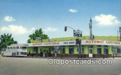 bus010201 - Automat Cafeteria, Grayhound, Rt. 66 Holbrook, Arizona, AR USA Postcard Post Card, Carte Postale, Cartolina Postale, Tarjets Postal,  Old Vintage Antique