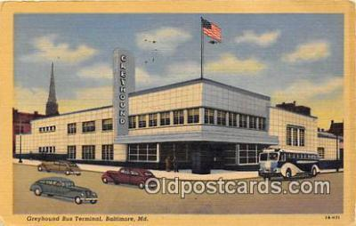 bus010214 - Bus Teminal, Vintage Collectable Postcards
