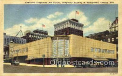 bus500007 - Overland Greyhound bus station Omaho Nebraska USA