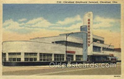 bus500028 - Cleveland Greyhound terminal Cleveland Ohio USA